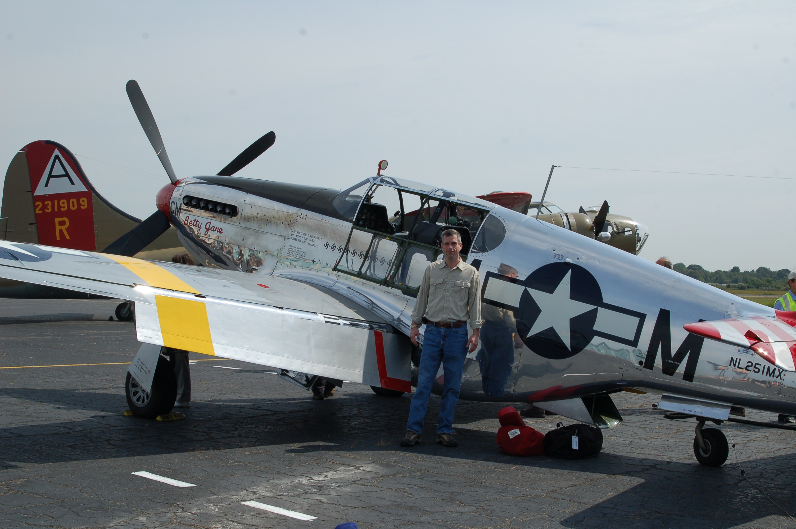 Pete with P-51C Mustang