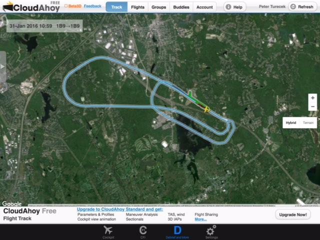 Avery flight path