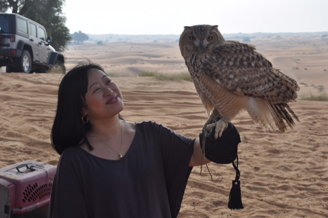 Michiko w Cersei desert eagle owl