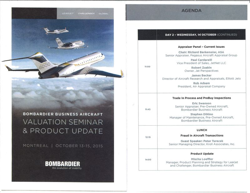 Bombardier Valuation brochure