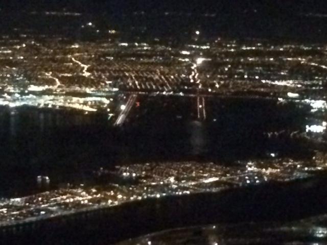 KJFK at night--departing aircaft