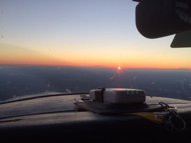 Sunset homeward bound